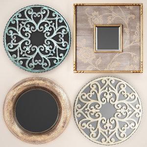 3D mirrors decorative