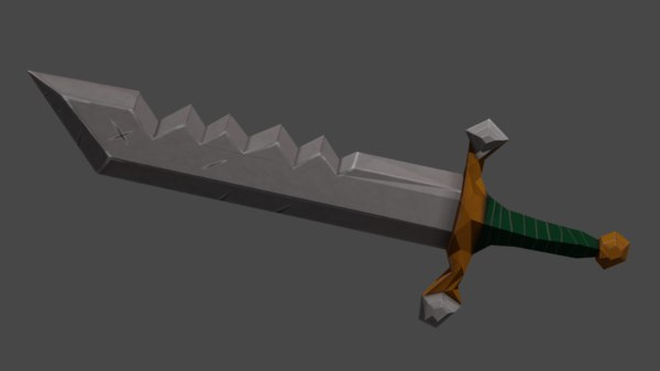 sword handdrawn 3D