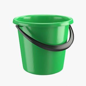 realistic plastic bucket 3D