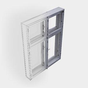 old window peeling paint 3D model