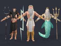 greek gods 3D