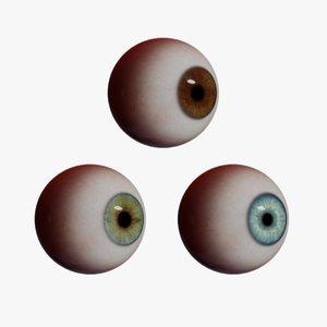 3D model realistic human eye iris