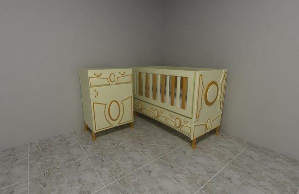baby cradle model