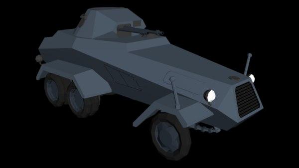 3D sd kfz 231