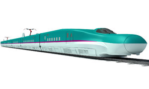 3d model high-speed train shinkansen e5