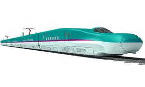 3d model high-speed train shinkansen e5
