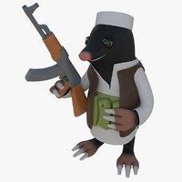 mole taliban talib 3D model