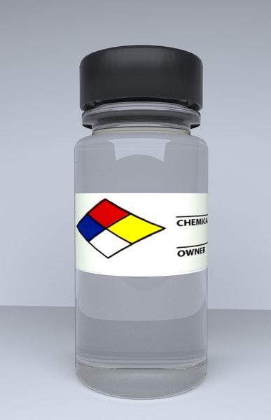 3D chemical bottle