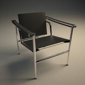 3D le corbusier sling chair model