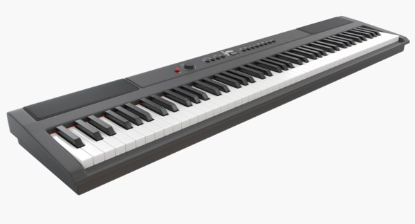 pbr digital piano keys 3D model