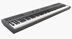 pbr digital piano keys 3D model