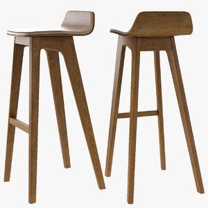 3D bar stool morph wood