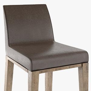 3D bar chair stool model