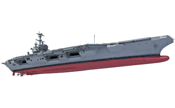 uss george h w bush 3d model