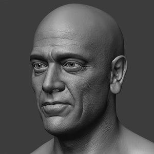 jeffrey dean morgan head 3D