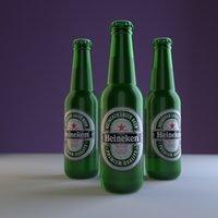 3D beer bottle