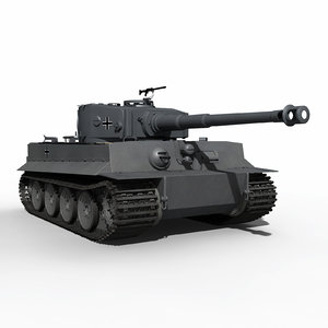 3D world war tiger 1 model