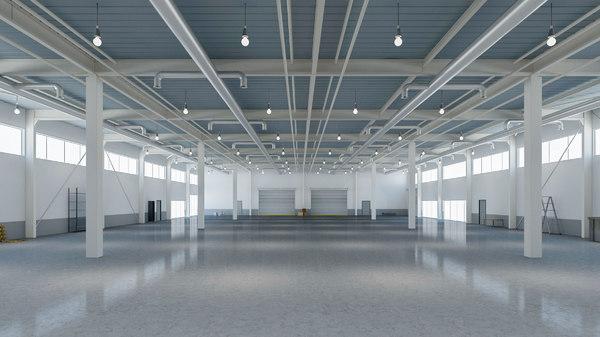 3D warehouse modern interior