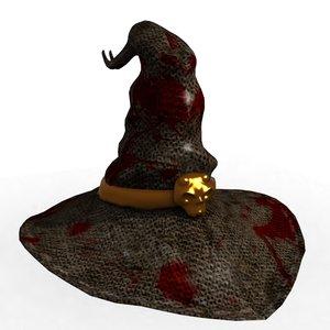 3D model witch hat