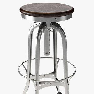 3D stool barstool toledo model