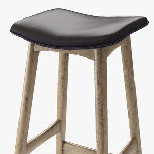 3D andersen allegra bar stool model