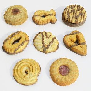 cookie set 3D model
