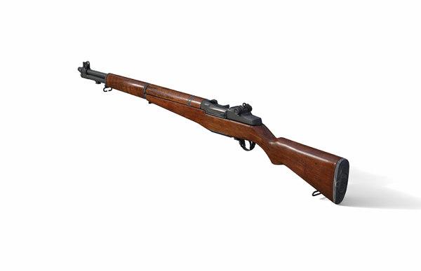 3D rifle m1 garand