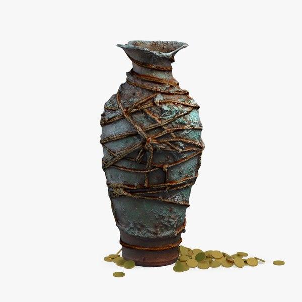 3D model handcrafted vase