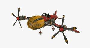 3D model war plane