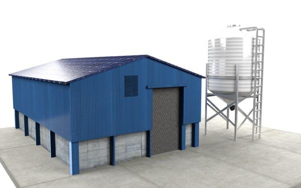 grain room silo tank 3D model