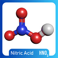 hno3 molecule nitric acid 3D model