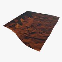 3D model realistic desert landscape