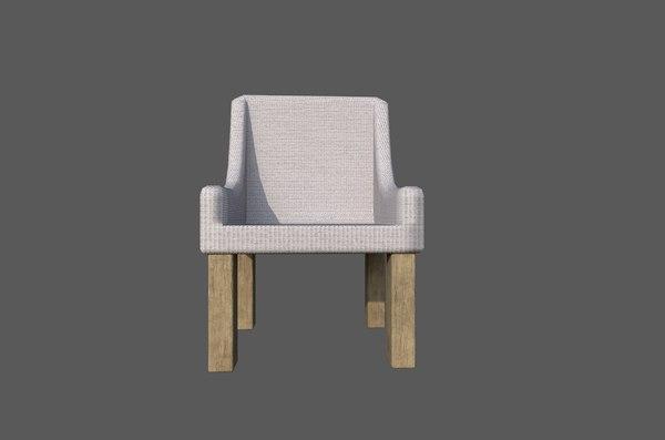 chair living room 3D model