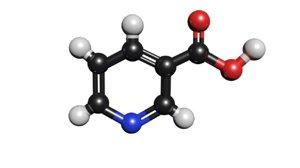c6h5no2 molecule nicotinic acid 3D
