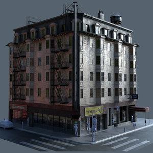3D hotel san francisco building model