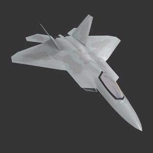 f22 raptor jet fighter 3D model