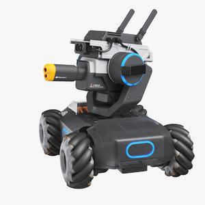 3D dji robomaster s1 blue