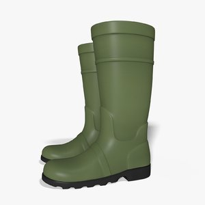 3D rain boots model