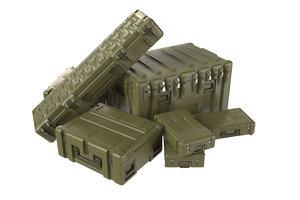 3D military crates model