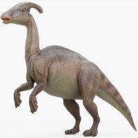 3D model parasaurolophus rigged