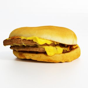 3D burger cheeseburger model