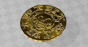 pirates caribbean medal 3D model