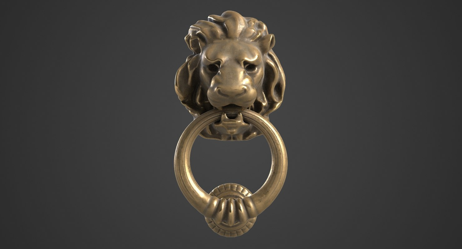 Lion Head Door Knocker 2