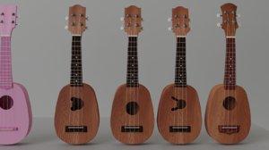 3D 6 ukuleles model