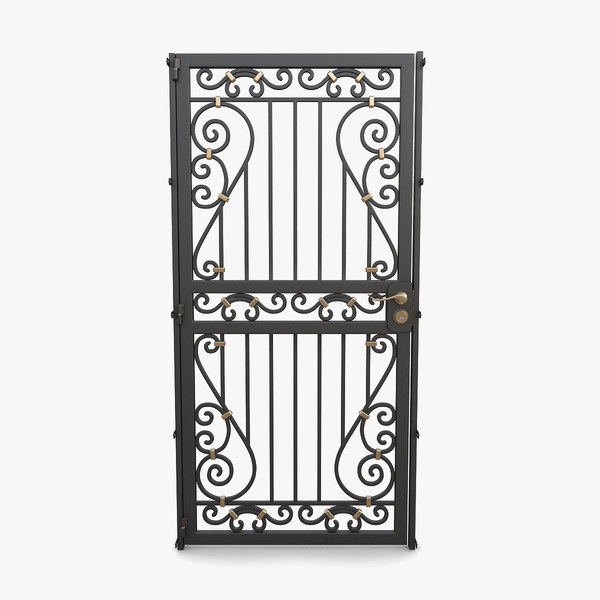 3D wrought iron gate 11