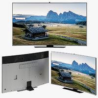 3D model samsung curved smart tv