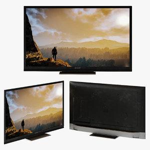 sharp lc smart tv model