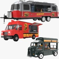 Burger Food Vehicles Collection