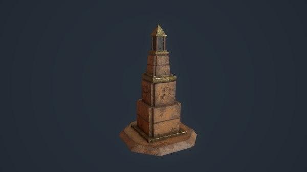 3D obelisk architecture model