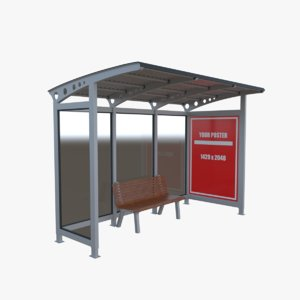 bus shelter stop model